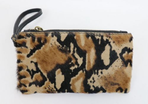 Leather Animal Print Purse/Wallet - Snake